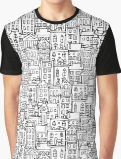 City sketch, seamless background Graphic T-Shirt