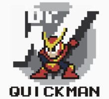 Quickman with text (Black) Kids Tee