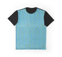 Bees on blue Graphic T-Shirt