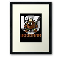 Woodman with text (Brown) Framed Print