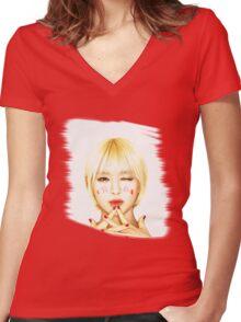 CHOA, AOA, Kpop star Women's Fitted V-Neck T-Shirt