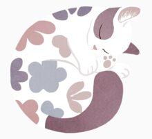 Sleeping Cat One Piece - Short Sleeve