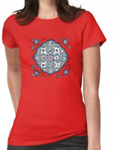 Abstract turkish pattern Womens Fitted T-Shirt