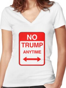 No Trump Anytime Women's Fitted V-Neck T-Shirt