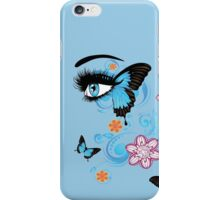 Summer Eyes with Floral 2 iPhone Case/Skin