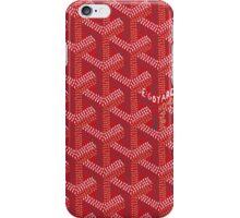 Goyard Perfect Case red iPhone Case/Skin