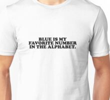 Blue Is My Favorite Number Confusing Quote Unisex T-Shirt