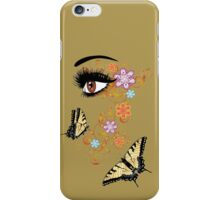 Summer Eyes with Floral 3 iPhone Case/Skin