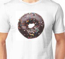 Chocolate donut, isolated on white background Unisex T-Shirt