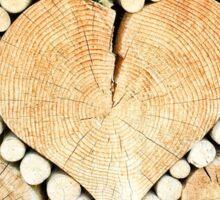 Heart shaped wood Sticker