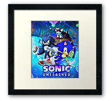 Sonic & Werehog Framed Print