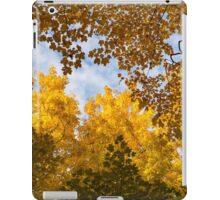 Golden Autumn Canopy - a Window to the Sky Horizontal iPad Case/Skin