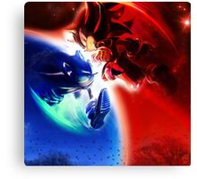 Sonic vs Shadow Canvas Print