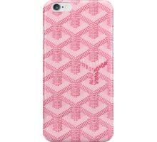 Goyard Perfect Case pink iPhone Case/Skin