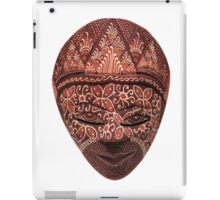 Traditional indonesian mask on a white background iPad Case/Skin