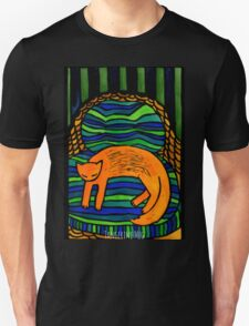 Orange Cat in the Big Chair Unisex T-Shirt
