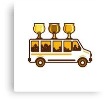 Beer Flight Glass Van Retro Canvas Print