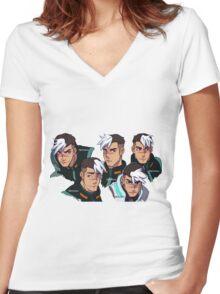 TAKASHI SHIROGANE (STICKER) Women's Fitted V-Neck T-Shirt