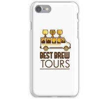 Beer Flight Glass Van Best Brew Tours Retro iPhone Case/Skin