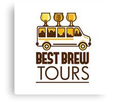 Beer Flight Glass Van Best Brew Tours Retro Canvas Print