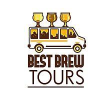 Beer Flight Glass Van Best Brew Tours Retro Photographic Print