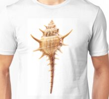 Thorn Conch shell, isolated on white background Unisex T-Shirt