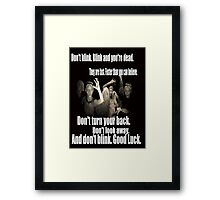 Doctor Who and the weeping angels Framed Print