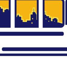 Van City Skyline Retro Sticker