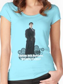 Captain Jack Harkness : Who are you ? Women's Fitted Scoop T-Shirt