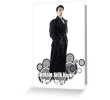 Captain Jack Harkness : Who are you ? Greeting Card
