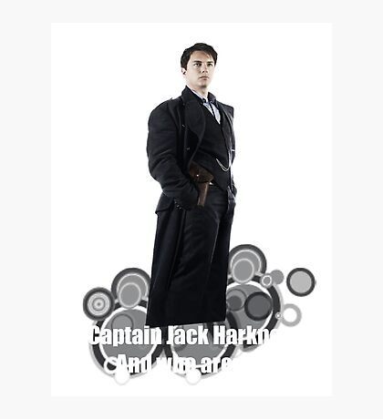 Captain Jack Harkness : Who are you ? Photographic Print