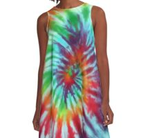 tie dye hippie A-Line Dress