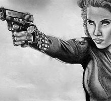 Scarlett Johansen-Black Widow by gabiggale