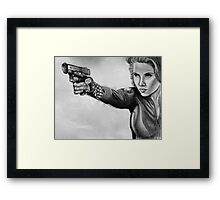 Scarlett Johansen-Black Widow Framed Print