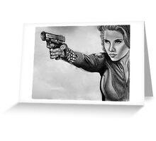 Scarlett Johansen-Black Widow Greeting Card