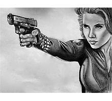 Scarlett Johansen-Black Widow Photographic Print