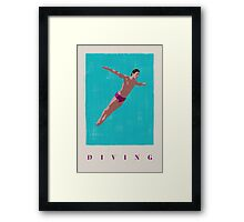 SUMMER GAMES / diving Framed Print