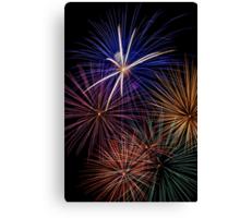 Explosive Color - Fireworks Canvas Print
