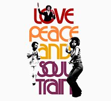 "LOVE PEACE AND SOUL TRAIN "" WHITE"" Unisex T-Shirt"
