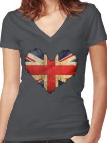 British Heart Women's Fitted V-Neck T-Shirt