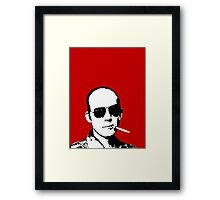 Hunter S Thompson - Smoking Framed Print