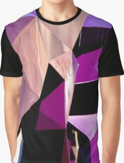 Geometrically Purple Graphic T-Shirt