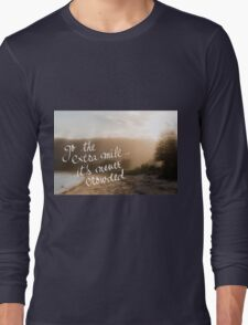Go The Extra Mile Its Never Crowded message Long Sleeve T-Shirt
