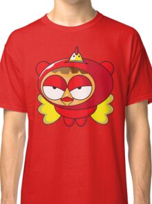 Fun Cartoon SuperHero Chicken Classic T-Shirt