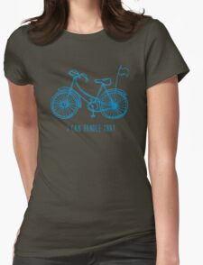 Hipster bicycle - blue Womens Fitted T-Shirt