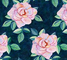 Simple Pink Rose Oil Painting Pattern by micklyn