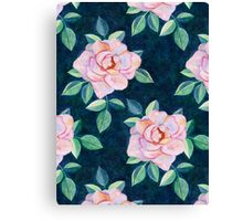 Simple Pink Rose Oil Painting Pattern Canvas Print