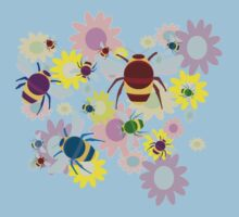 Bees & Flowers Kids Tee
