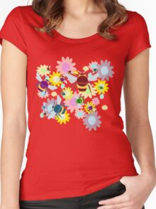 Bees & Flowers Women's Fitted Scoop T-Shirt