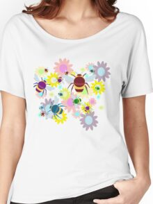 Bees & Flowers Women's Relaxed Fit T-Shirt